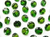 鮮やかなグリーン色のクロムダイオプサイドの裸石